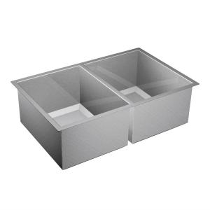 """1600 Series 31""""x20"""" stainless steel 16 gauge double bowl sink Product Image"""
