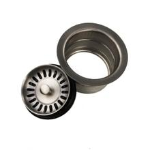 View Product - 3.5 Inch Extended Flange Disposal Kitchen Drain in Brushed Stainless