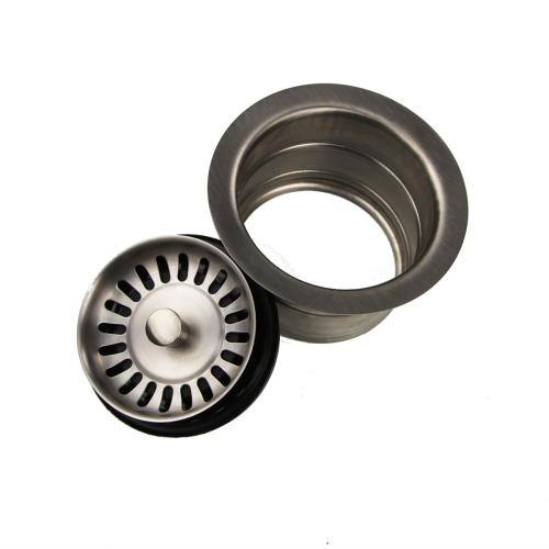 Nantucket Sinks - 3.5 Inch Extended Flange Disposal Kitchen Drain in Brushed Stainless