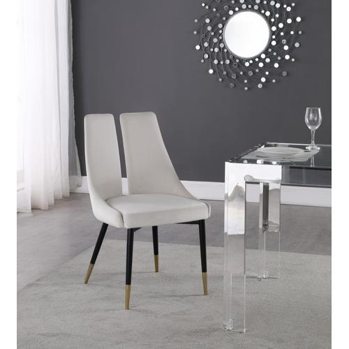 "Sleek Velvet Dining Chair - 22"" W x 24.5"" D x 35.5"" H"