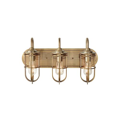 Feiss - Urban Renewal 3 - Light Vanity Dark Antique Brass