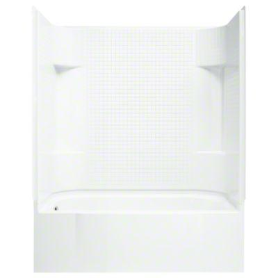 "Accord® Series 7114, 60"" x 30"" x 72"" Bath/Shower with Age in Place Backers - Left-hand - White"