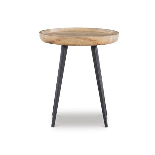 2-piece Side Table, Natural and Gun Metal