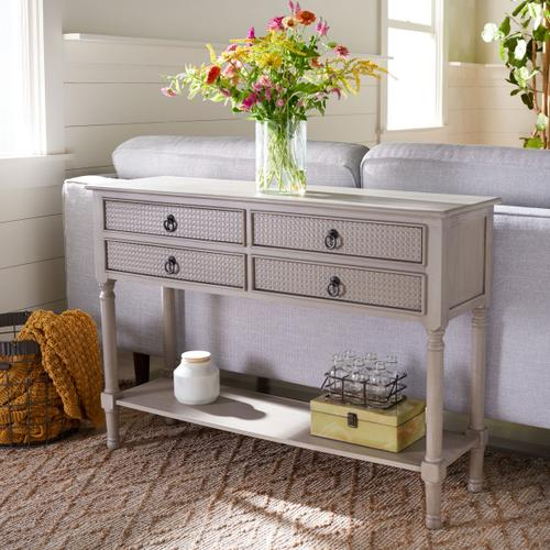 Safavieh - Haines 4 Drawer Console Table - Greige