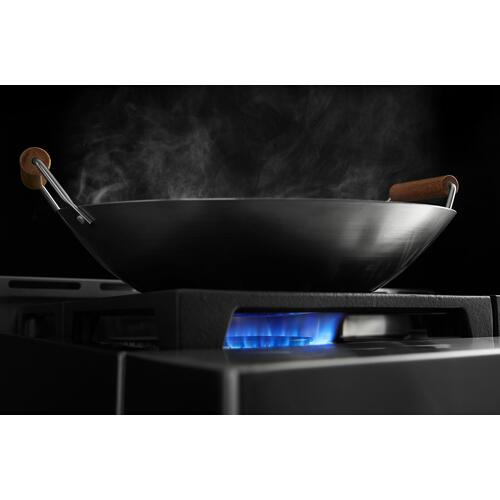 KitchenAid® 48'' Smart Commercial-Style Gas Range with Griddle - Ink Blue