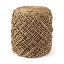 See Details - Allium 15.7L x 15.7W x 17.7H Brown Wool Round Jute Pouff