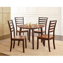 Abaco 5 Piece Drop-Leaf Set(Table & 4 Side Chairs)