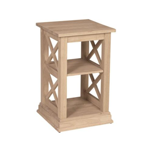 Whitewood Industries - Unfinished Hampton Accent Table
