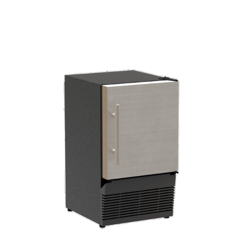 14-In Low Profile Compact Crescent Ice Machine with Door Style - Stainless Steel