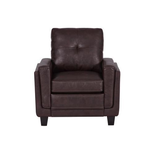 Traditional Accent Armchair in Rich Brown