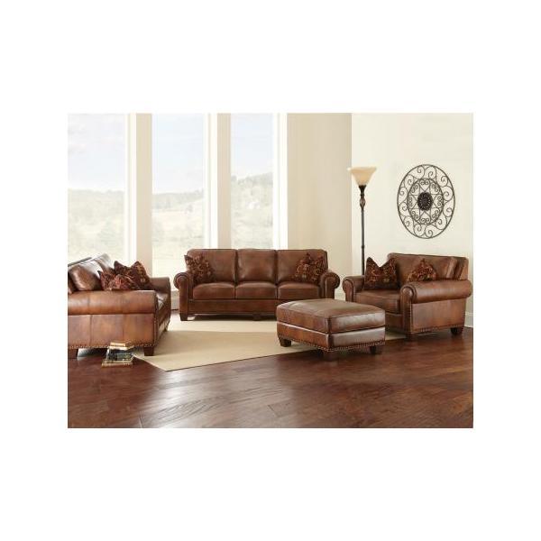 Silverado Leather 4 Piece Set (Sofa, Loveseat, Chair & Ottoman)