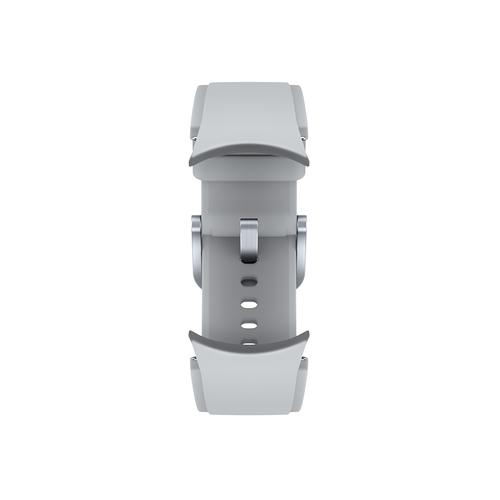 Samsung - Galaxy Watch4, Galaxy Watch4 Classic Ridge-Sport Band, S/M, Silver