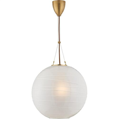 Visual Comfort AH5015NB-FG Alexa Hampton Hailey 1 Light 18 inch Natural Brass Pendant Ceiling Light