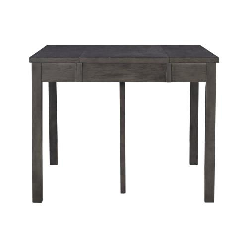 Two 18-inch Expandable Leaves Console Dining Table, Dark Grey