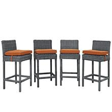 Summon Bar Stool Outdoor Patio Sunbrella® Set of 4 in Canvas Tuscan