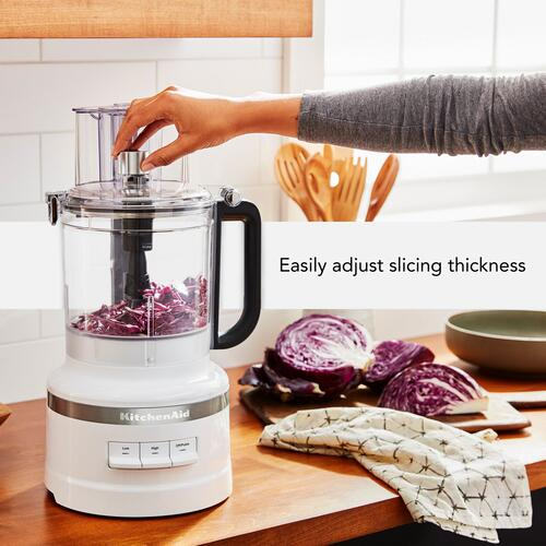 13-Cup Food Processor with Dicing Kit - White
