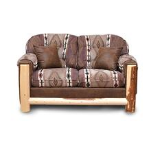 Aspen Rustic Loveseat With 2 Pillows