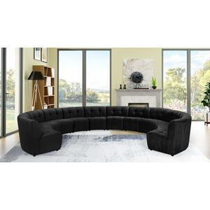 "Limitless Modular Velvet 12pc. Sectional - 173"" W x 146"" D x 31"" H"