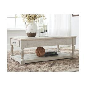 Shawnalore Rectangular Cocktail Table Whitewash
