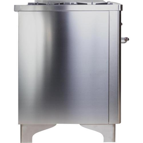 36 Inch Stainless Steel Dual Fuel Liquid Propane Freestanding Range