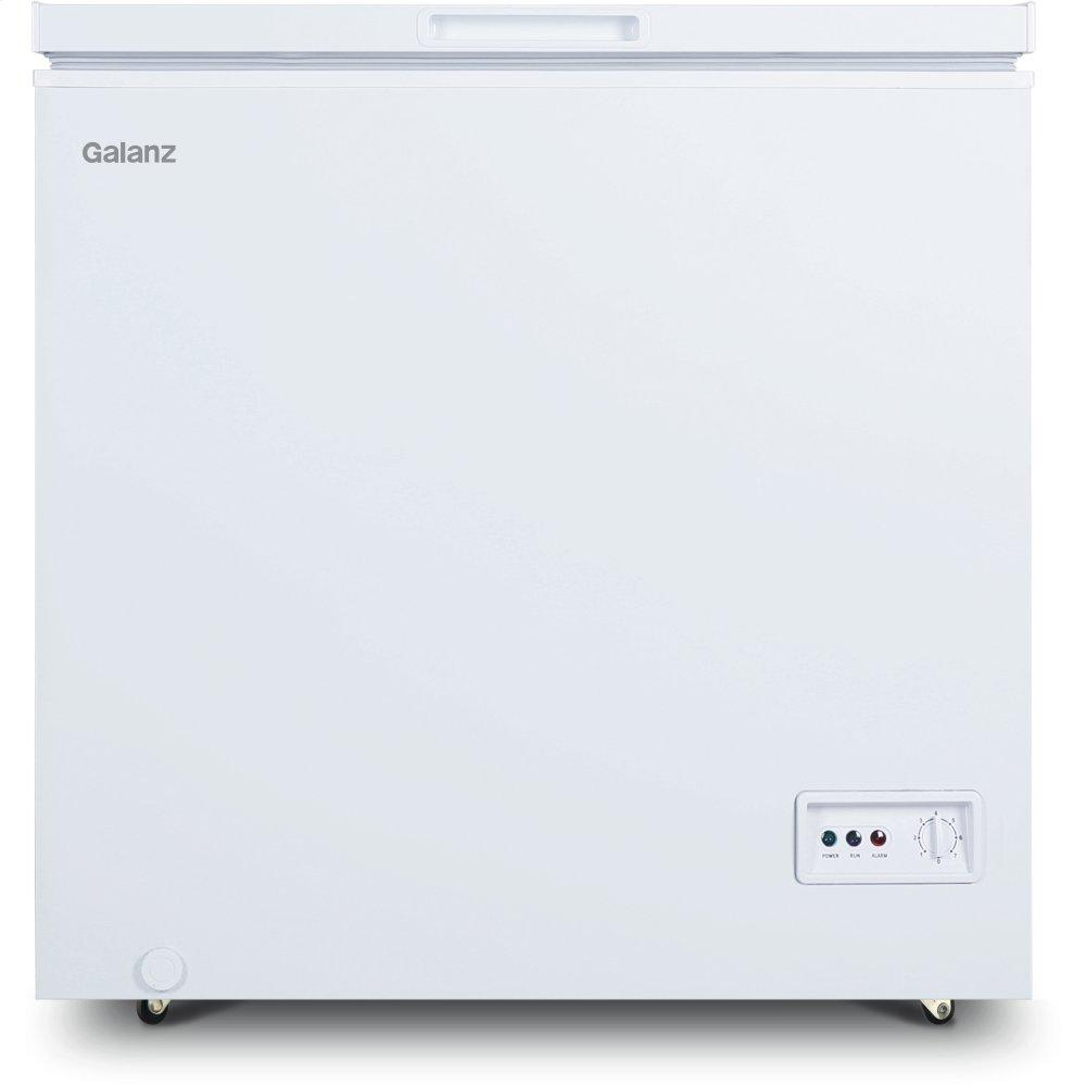 Galanz 5.0 Cu Ft Manual Defrost Chest Freezer in White