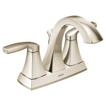 Voss Polished nickel two-handle high arc bathroom faucet