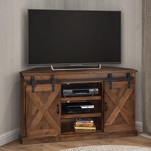 """Farmhouse 56"""" Corner TV Console"""