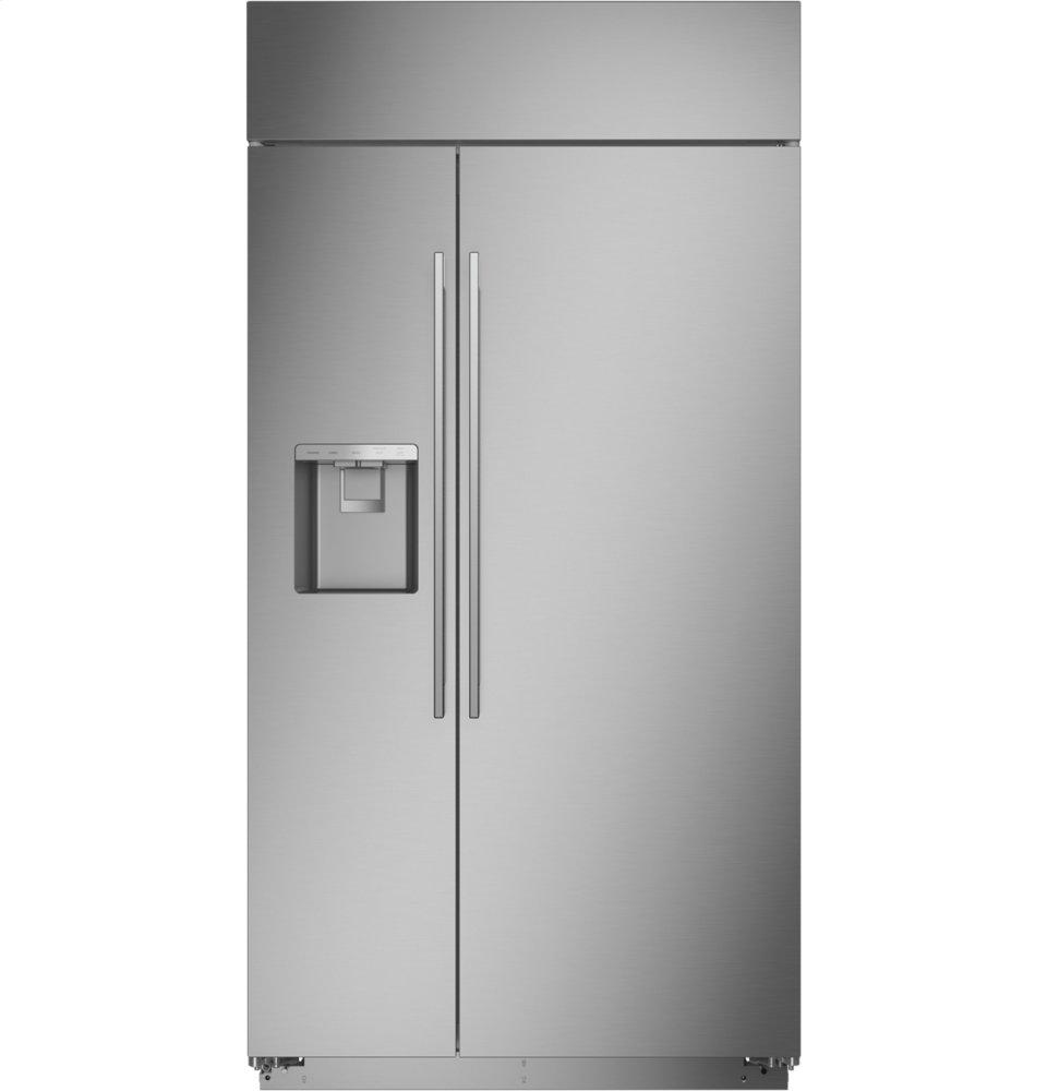 "MonogramMonogram 42"" Smart Built-In Side-By-Side Refrigerator With Dispenser"