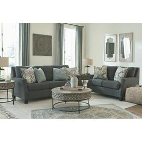 Bayonne Sofa and Loveseat Charcoal