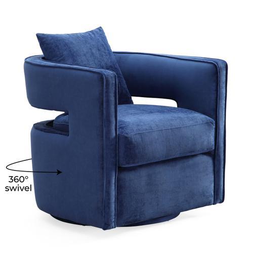 Tov Furniture - Kennedy Navy Swivel Chair