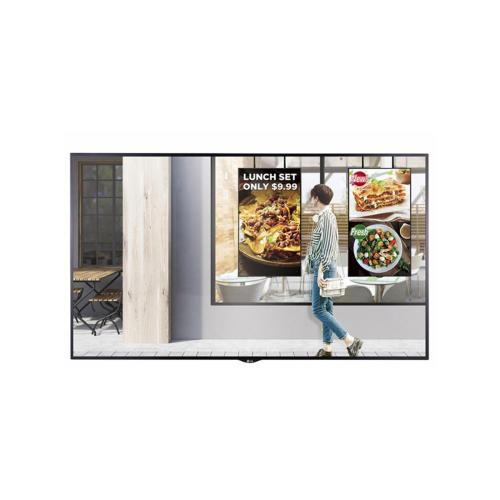 75'' XS2E Series UHD High Brightness Window Facing Digital Signage with 2,500 nits Brightness, webOS, & auto brightness sensor