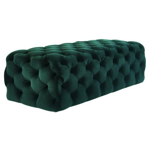 Kaylee Jumbo Green Velvet Ottoman