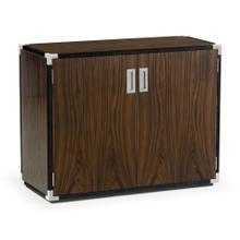 Campaign Style Dark Santos Rosewood Storage Cabinet