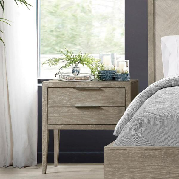 See Details - Zoey - Two Drawer Nightstand - Urban Gray Finish