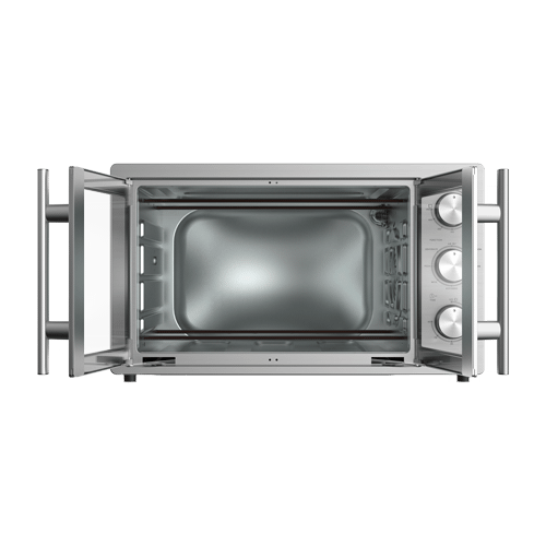 Galanz 1.5 Cu Ft Retro French Door Toaster Oven with Air Fry in Stainless Steel