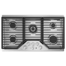 """See Details - GE Profile 36"""" Built-In Deep-Recessed Edge-to-Edge Gas Cooktop Stainless Steel - PGP9036SLSS"""