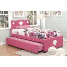See Details - Pink Twin Bed With Trundle