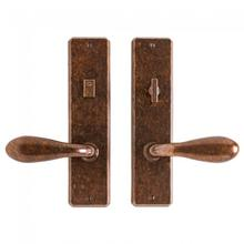 """View Product - Hammered Privacy Set - 2 1/2"""" x 10"""" Silicon Bronze Brushed"""
