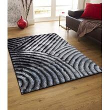 See Details - Soft Three Dimensional Polyester Viscose Hand Tufted 3D 309 Shag Area Rug by Rug Factory Plus - 2' x 3' / Gray