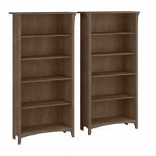 Salinas Tall 5 Shelf Bookcase - Set of 2 - Ash Brown