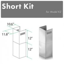 See Details - ZLINE 2-12 in. Short Chimney Pieces for 7 ft. to 8 ft. Ceilings (SK-KZ)