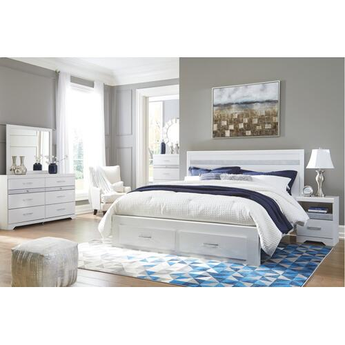 Jallory King Panel Bed With 2 Storage Drawers