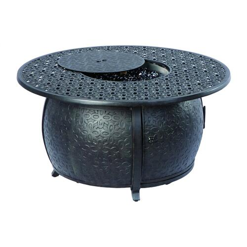 "Margherita 48"" Round Gas Fire Pit Chat Table w/ burner"