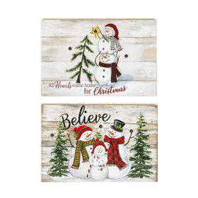 Light Up Snowman Box Plaques (6 pc. ppk.)
