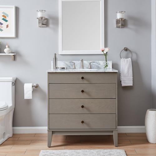 Farmhouse Frenna Farmhouse Vanity Sink With Marble Top