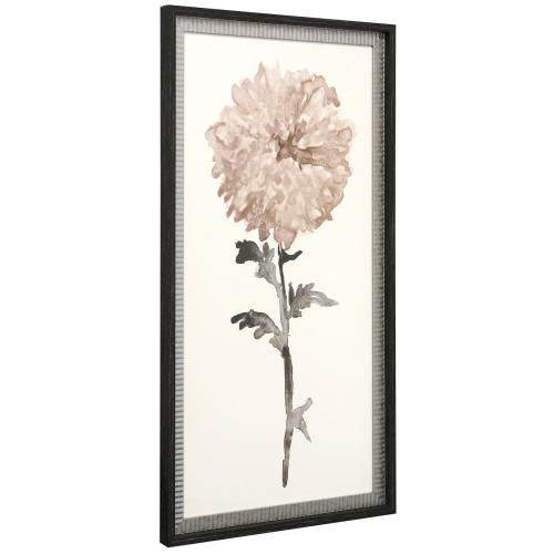 Product Image - WATERCOLOR WISHES  21in w. X 39in ht.  Double Framed Floral Watercolor Print  Made in USA
