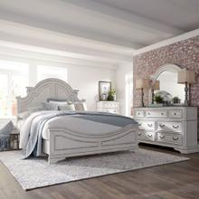 Queen Panel Bed, Dresser & Mirror, Chest