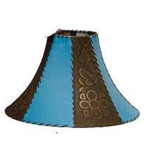 Tooled Leather Lamp Shade