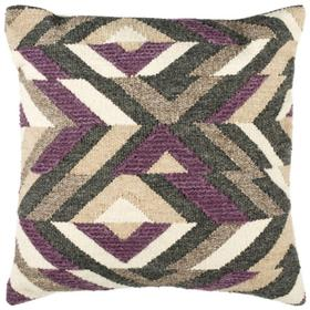 Issey Pillow - Charcoal / Purple