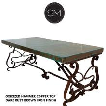 Hammer Copper Wrought Iron Desk